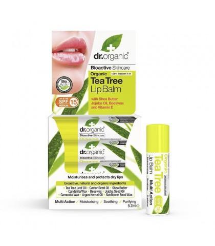 Balsam de buze Bio Extract de Arbore de Ceai Dr.Organic 5.7ml