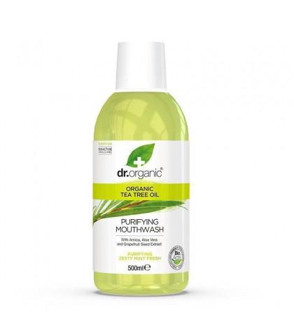 Apa de gura Bio Extract de Arbore de Ceai Dr.Organic 500ml