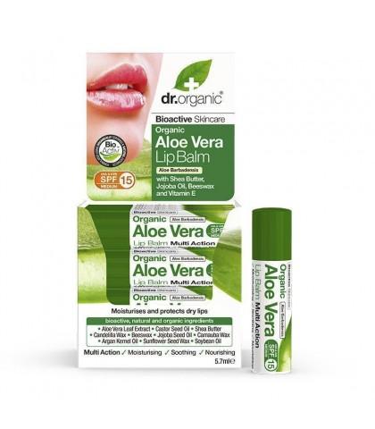 Balsam de buze Bio Aloe Vera Dr.Organic 5.7ml