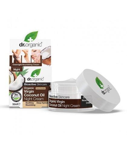 Crema de noapte Bio Cocos Dr.Organic 50ml