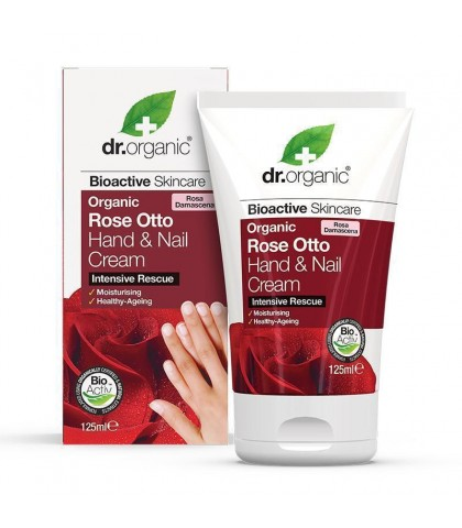 Crema maini si unghii Bio Trandafir Dr.Organic 125ml