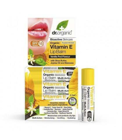 Balsam buze Bio Vitamina E Dr.Organic 5.7ml