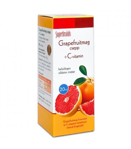 Extract din samburi de Grapefruit plus Viamina C Dr.Herz 20ml