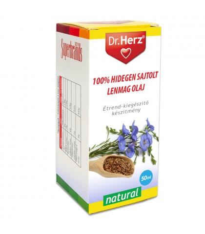 Ulei din seminte de in presat la rece Dr.Herz 50 ml