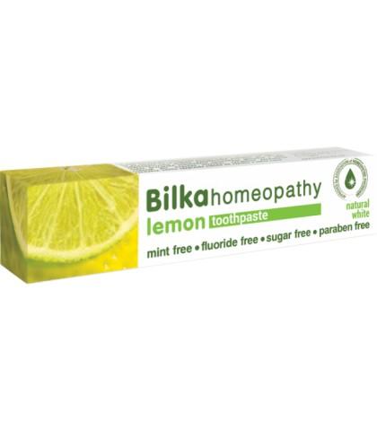 Pasta de dinti Bilka Homeopathy Lemon Whitening cu Xylitol 75ml