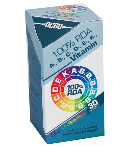 Ocso 100 RDA Multivitamine 30 capsule