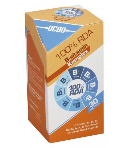 Ocso 100 RDA Vitamina B Complex 30 capsule