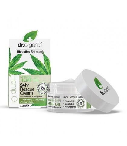 Crema de fata hidratanta 24h ulei de canepa Dr.Organic 50ml